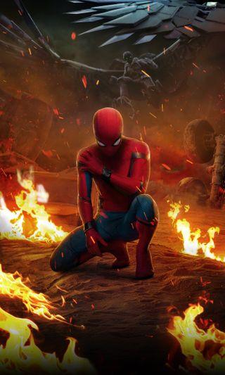 Обои на телефон том, фильмы, постер, паук, возвращение домой, tom holland, spider man homecoming, spider man