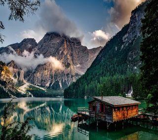 Обои на телефон прекрасные, озеро, милые, крутые, италия, lake prags italy