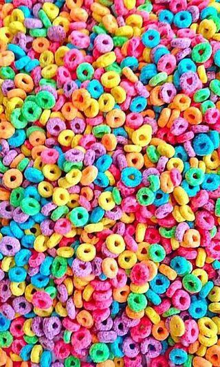 Обои на телефон фрукты, утро, угощение, сахар, крутые, treats, loops, cereal, breakfast