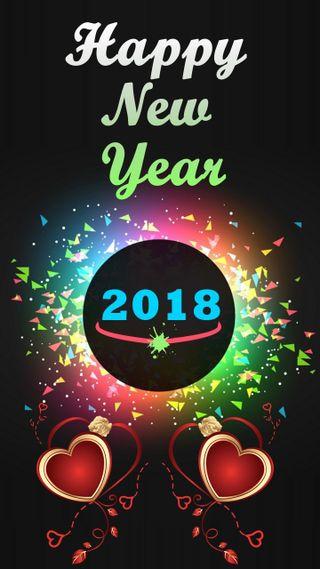 Обои на телефон счастливые, новый, год, happy new year 2018, 2018