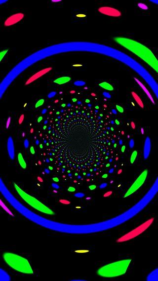 Обои на телефон эффект, туннель, точки, крутые, красочные, иллюзии, the dot effect