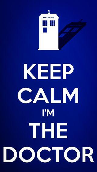 Обои на телефон доктор, спокойствие, синие, keep calm