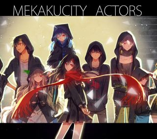 Обои на телефон банда, аниме, mekakucity actors, mekakucity
