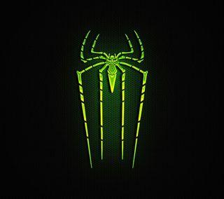 Обои на телефон голливуд, человек паук, супергерои, рисунки, мультфильмы, марвел, логотипы, комиксы, зеленые, spiderman green logo, marvel, dc