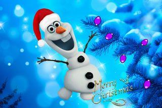 Обои на телефон холодное, счастливое, снеговик, снег, рождество, олаф, мультфильмы, зима, snowmman