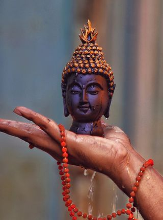 Обои на телефон верить, мир, будда