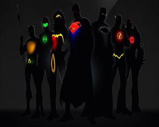 Обои на телефон зеленые, бэтмен, супермен, женщина, лига, справедливость, чудо, фонарь, аквамен