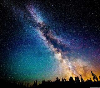 Обои на телефон вселенная, цветные, земля, звезды