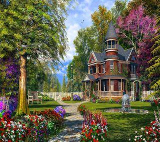 Обои на телефон природа, пейзаж, дом, страна