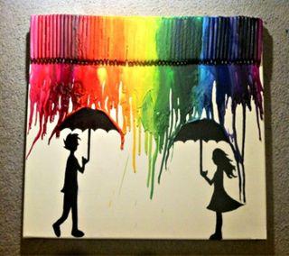 Обои на телефон цветные, рисунки, радуга, приятные, новый, милые, мальчик, любовь, крутые, дождь, девушки, амбрелла, rainy paint hd, love, 2012