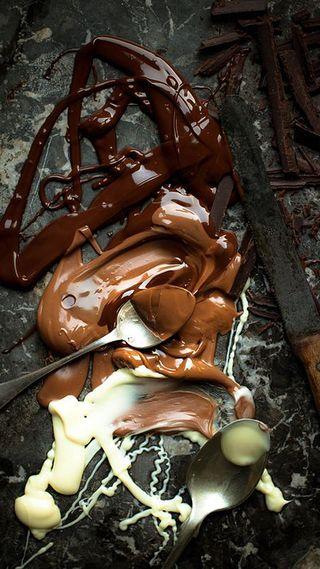 Обои на телефон шоколад, черные, еда, белые, choco mania