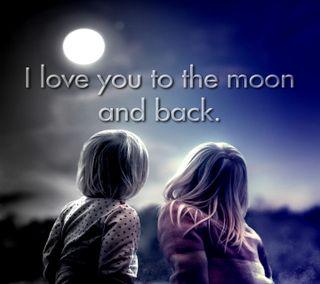 Обои на телефон ты, высказывания, любовь, луна, love you to the moon, love