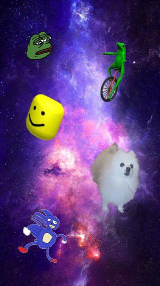Обои на телефон мемы, мем, галактика, meme galaxy