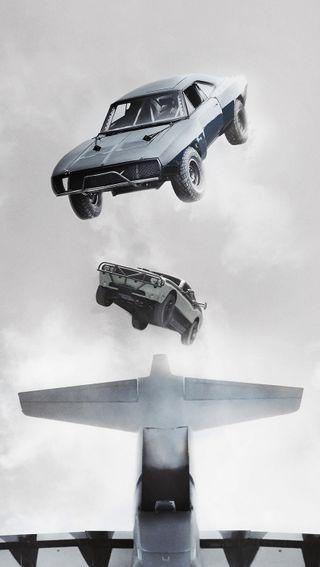 Обои на телефон яростный, летать, скорость, небо, машины, война, statham, furious 7