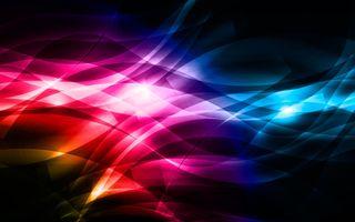 Обои на телефон черные, фиолетовые, синие, красые, желтые, волны, абстрактные