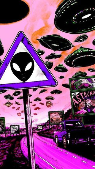 Обои на телефон пришельцы, пришелец, марихуана, конопля, вселенная, hippie, area 51, area, 51