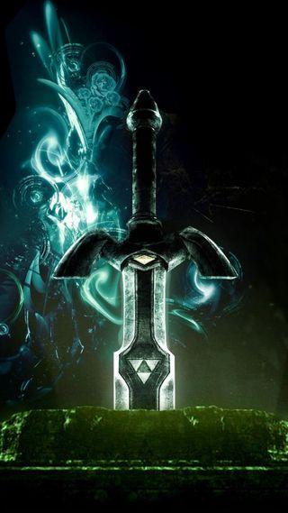 Обои на телефон зельда, нинтендо, меч, мастер, легенда, nintendo, master sword