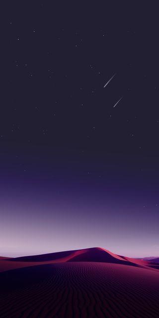 Обои на телефон s8, s8plus, природа, ночь, фиолетовые, звезды, красота, песок, пустыня