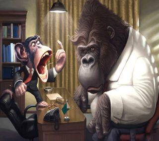 Обои на телефон обезьяны, monkey tricks, -------------