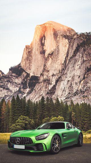 Обои на телефон турбо, скорость, мерседес, машины, зеленые, горы, амг, авто, mercedes, gtr, amg