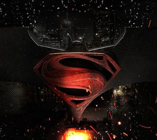Обои на телефон супермен, против, герой, логотипы, бэтмен