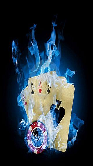Обои на телефон карты, пламя, другие, cards on flame