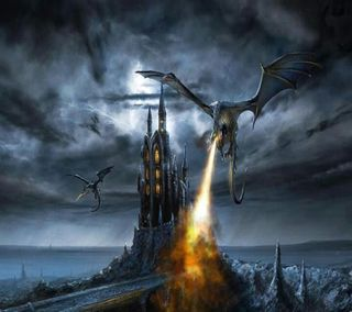 Обои на телефон террор, siniestros, gotico, dragones, dragoes - 002
