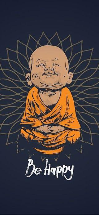 Обои на телефон будь, топ, счастливые, последние, новый, мультфильмы, милые, крутые, будда, be happy buddha, 2020