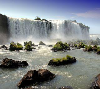 Обои на телефон водопад, природа, hd