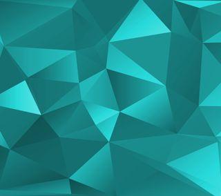 Обои на телефон многоугольник, бирюзовые, абстрактные, angles