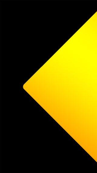 Обои на телефон черные, формы, треугольник, оранжевые, материал, качество, желтые, высокий, абстрактные, yellow triangle, lollipop, go