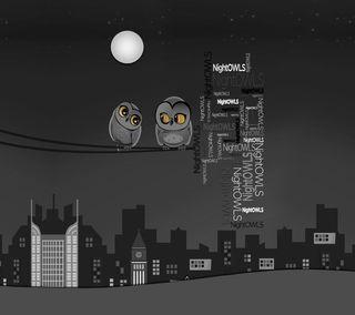 Обои на телефон сова, материал, дизайн, nightowls