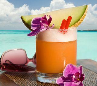 Обои на телефон свежие, пляж, напиток, лето