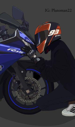 Обои на телефон ямаха, мотоциклы, любовь, гонка, байк, yamaha r15 v3, yamaha, r15v3, r15, mm93, bike love, 93