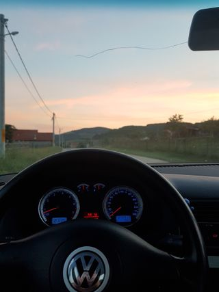 Обои на телефон фольксваген, машины, закат, дорога, гольф, vw at sunset, vw, volkswagen, mk4, hd, bora
