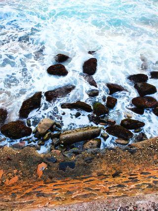 Обои на телефон волны, природа, пляж