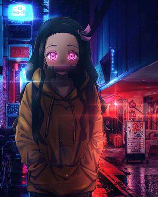 Обои на телефон незуко, демон, аниме, demon slayer nezuko