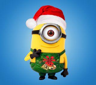 Обои на телефон счастливое, санта, рождество, миньоны, милые