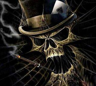 Обои на телефон эмо, череп, сигареты, готы, smoking skill