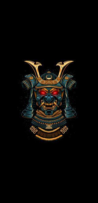 Обои на телефон символы, самурай, племенные, маска, воин, samurai mask, masonic