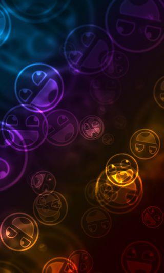 Обои на телефон фиолетовые, синие, оранжевые, красые, желтые, абстрактные