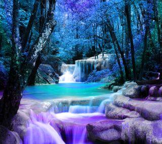 Обои на телефон мой, водопад