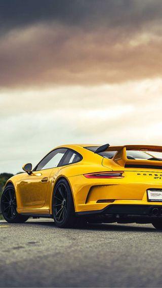Обои на телефон porsche, luxury, машины, желтые, суперкары, роскошные, порше, богатые, гиперкар