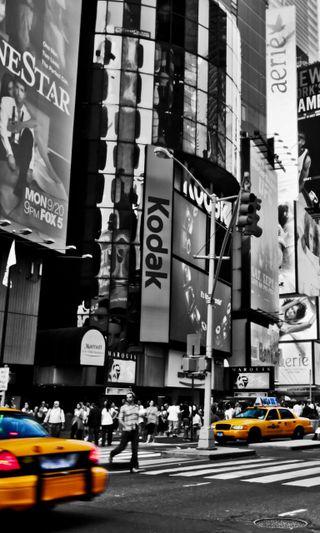 Обои на телефон квадратные, новый, йорк, город, times, taxi, cab