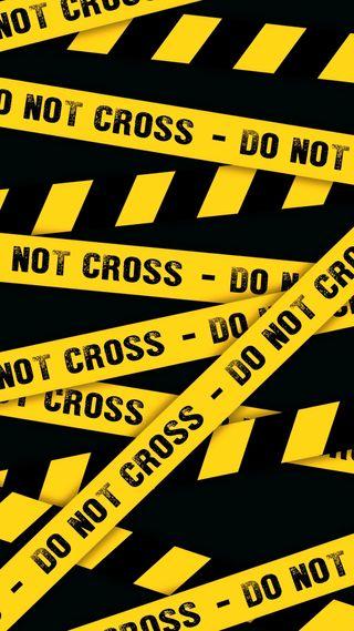 Обои на телефон полиция, опасный, опасные, линии, крест, желтые, высказывания, do not cross