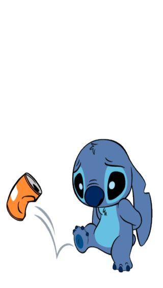 Обои на телефон стич, грустные, sad stitch