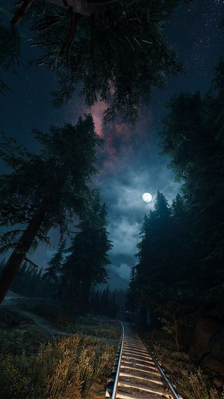 Обои на телефон пс4, звезды, природа, пейзаж, ночь, небо, дни, галактика, видео игры, ps4, playstation, galaxy, daysgone, days gone