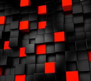 Обои на телефон кубы, черные, любовь, красые, классные, love, black and red cubes