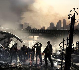 Обои на телефон слева, мертвый, зомби, город, left 4 dead