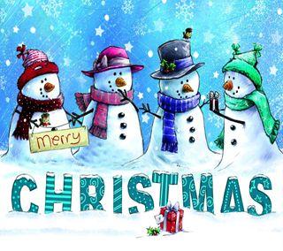 Обои на телефон снеговик, рождество